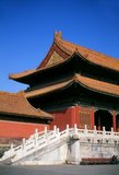 The Gate of Supreme Harmony  (pinyin: Tàihémén; Manchu: Amba hūwaliyambure duka), is the second major gate at the southern side of the Forbidden City.<br/><br/>  The Forbidden City, built between 1406 and 1420, served for 500 years (until the end of the imperial era in 1911) as the seat of all power in China, the throne of the Son of Heaven and the private residence of all the Ming and Qing dynasty emperors. The complex consists of 980 buildings with 8,707 bays of rooms and covers 720,000 m2 (7,800,000 sq ft).